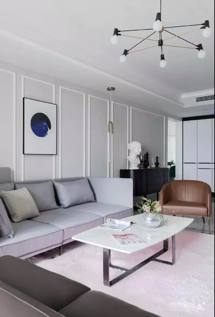 100平方 小资风格 两居室
