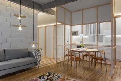 原木工业风的玻璃小屋,个性十足