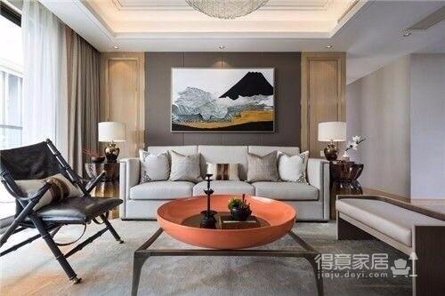 常青南园 新中式风格 130平方 现代中式元素图_1