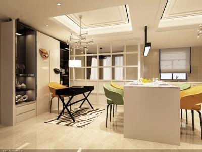 城东国际123平米三室现代简约