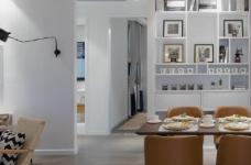 90㎡北欧风,柔和的中性色很温馨舒适,餐厅壁纸很有意思!图_8