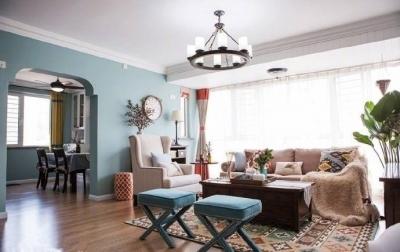 浪漫的色彩搭配,一个温馨的居家空间