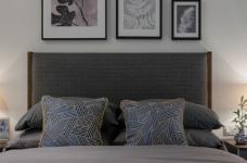 90㎡北欧风,柔和的中性色很温馨舒适,餐厅壁纸很有意思!图_2
