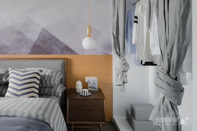 90㎡北欧风,柔和的中性色很温馨舒适,餐厅壁纸很有意思!图_6