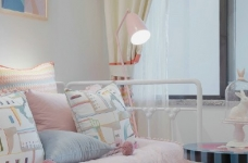 90㎡北欧风,柔和的中性色很温馨舒适,餐厅壁纸很有意思!图_7