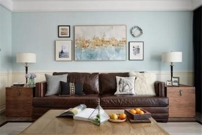 这套美式风居室,营造现代舒适的空间氛围