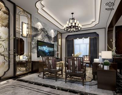 静伴生别墅中式简欧风格220平米