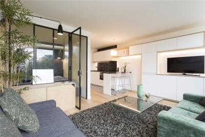 优雅简洁翻新一室公寓