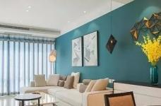 以墨绿为背景色 内敛低调的新加坡风格125㎡三室住宅图_4