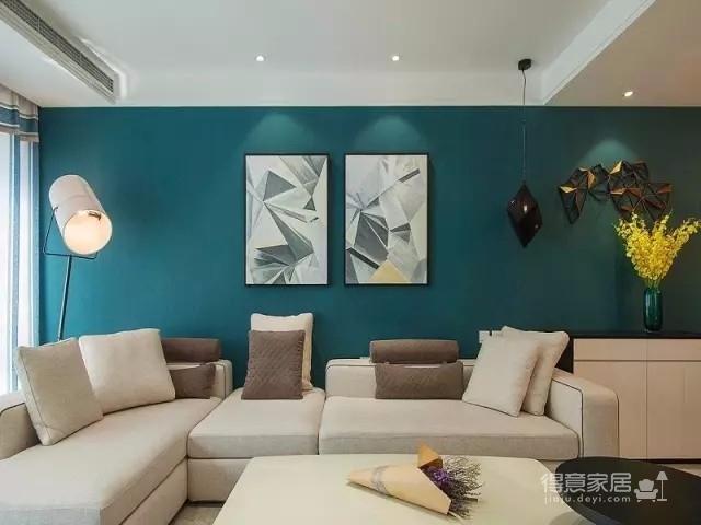 以墨绿为背景色 内敛低调的新加坡风格125㎡三室住宅图_3