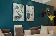 以墨绿为背景色 内敛低调的新加坡风格125㎡三室住宅图_1