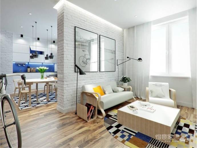 70㎡简约时尚单身公寓,小资情节弥漫整个小屋 