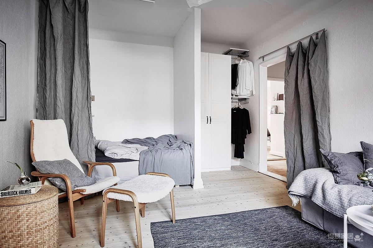 36平米北欧公寓 用灰色创造色彩深度