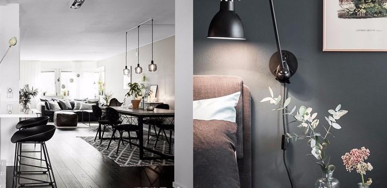 黑白灰色系简约北欧公寓,色彩空间永远不会错,想不好用什么颜色做室内?那就用黑白灰吧!