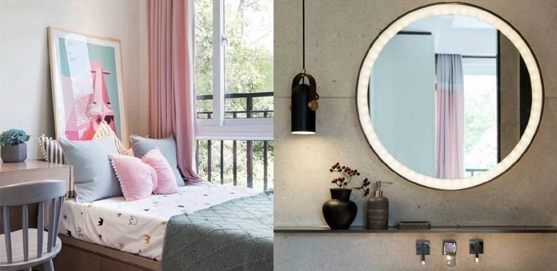 简洁大气、清新典雅的新中式风,粉色卧室满足你的少女心
