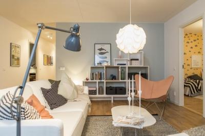 3室1厅斯堪的纳维亚风格公寓,温馨浪漫