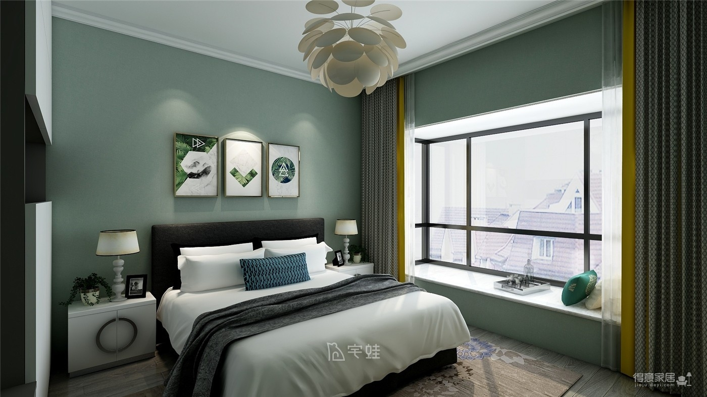 海亮滨河壹号140㎡简约,一场黑白灰的时尚对话图_4