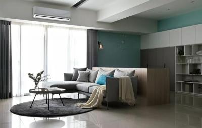 125㎡现代简约,喜欢客厅+书房的组合,小资情趣