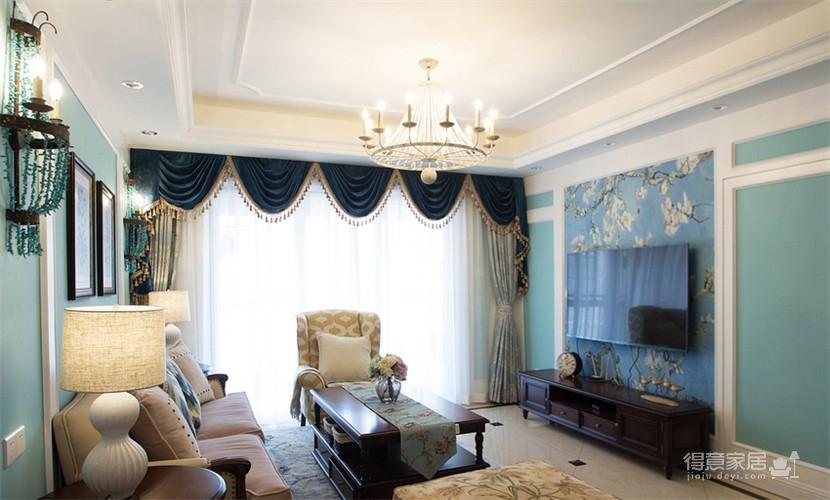 120平米美式风格装修,休闲四居室