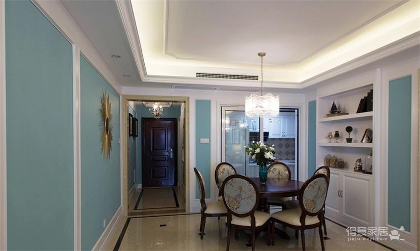 120平米美式风格装修,休闲四居室图_5