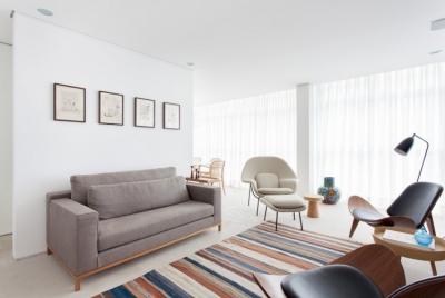 190平现代简约公寓,大面积的留白超显质感