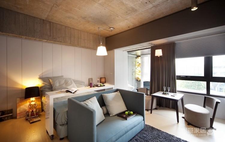 台湾30平简洁时尚单身公寓,单身狗必备!