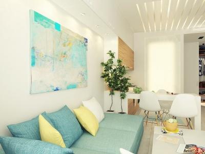 莫斯科29平北欧风小公寓,整体清新又舒适