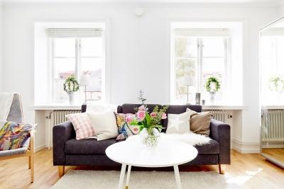 40平干净舒适一居室公寓,衣柜与镜面一体立显宽敞
