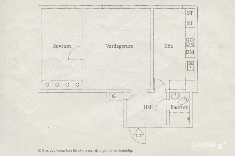 51平明亮舒适小户型公寓,应有尽有