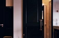 金属质感的线性魅力!俄罗斯13坪古典工业风单身宅图_7