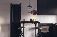 金属质感的线性魅力!俄罗斯13坪古典工业风单身宅图_5
