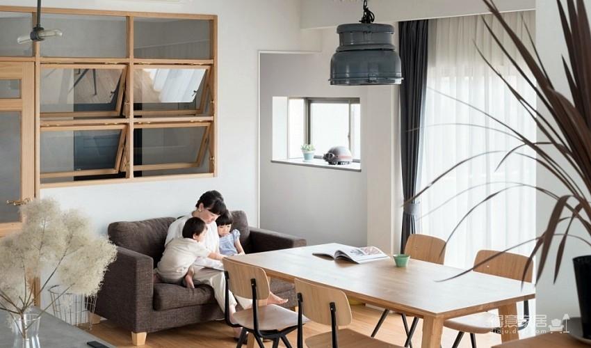 怀旧木制上推窗!日本106㎡温馨MUJI风亲子宅
