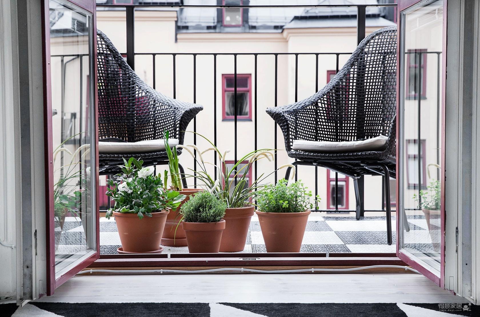 瑞典69平L型现代时尚公寓,自然通透