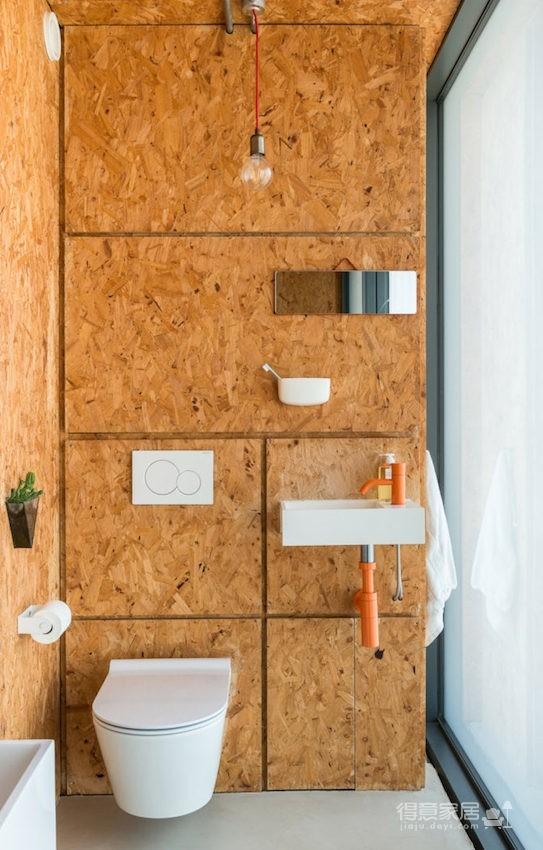 甘蔗板原来能这样用!伦敦53㎡工业风顶楼公寓图_14