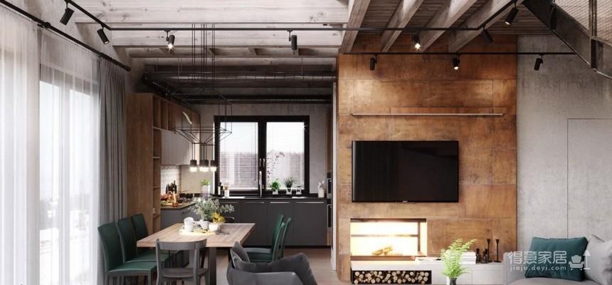 白俄罗斯温暖的工业风格住宅设计图_4