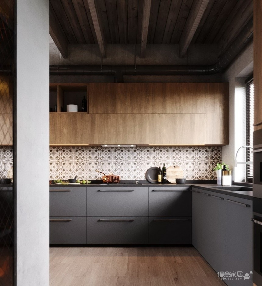 白俄罗斯温暖的工业风格住宅设计图_12