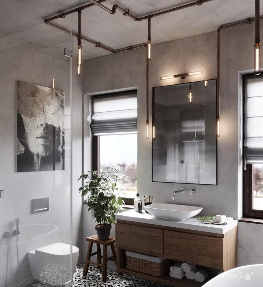 白俄罗斯温暖的工业风格住宅设计图_16