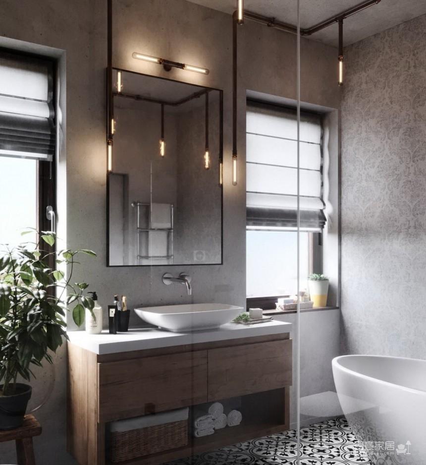 白俄罗斯温暖的工业风格住宅设计图_15