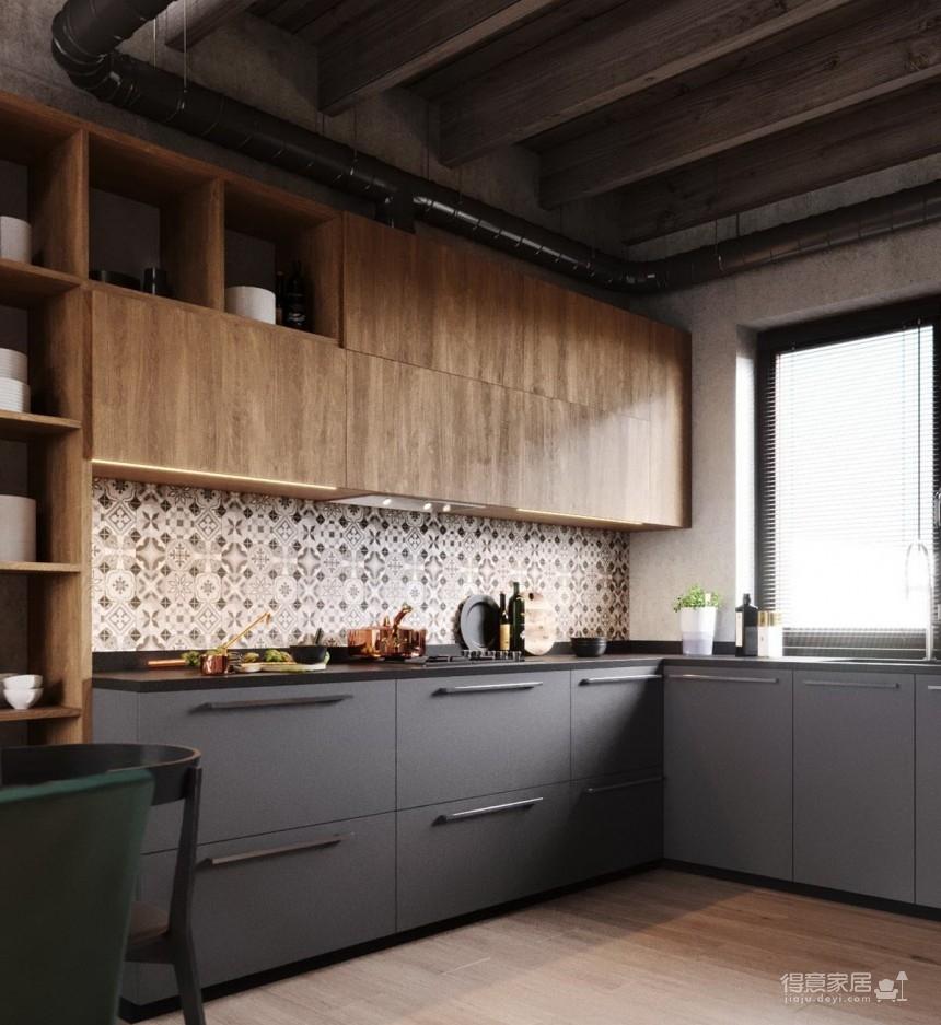 白俄罗斯温暖的工业风格住宅设计图_13