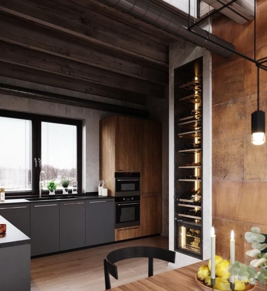 白俄罗斯温暖的工业风格住宅设计图_7