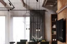 白俄罗斯温暖的工业风格住宅设计图_6