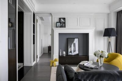 宁波135㎡黑白公寓,岁月静好