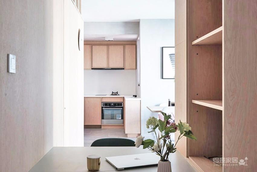 30平米木质简约公寓 森系生活就此开启