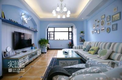 【波光霞影】110平三室两厅蓝色海洋风