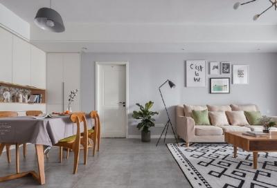 90㎡北欧风格家居设计,柔和的色调真的好喜欢,强烈推荐! 