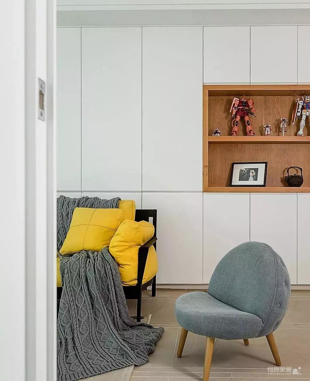 140㎡北欧,暖心艳丽的色调,满屋舒适的气息图_2