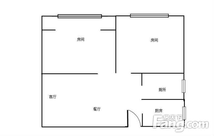 徐东才华街柴林东区63方装修案例赏析图_2