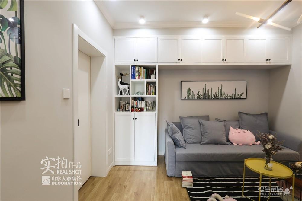 【北欧】57平一室一厅自在空间图_11