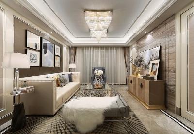 简洁明亮三居室美式风家居设计