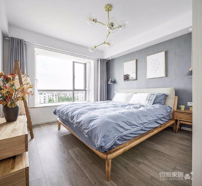 原木色与灰色搭配,89平米北欧两居室